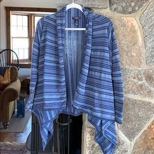 Chaps Denim cotton fishtail cardigan